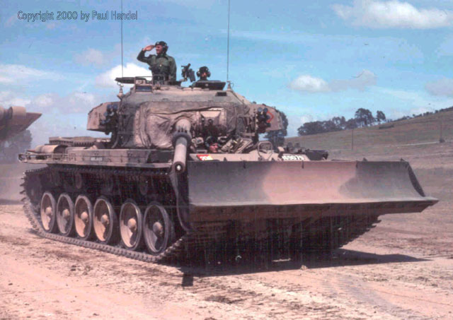 2d8f975dee56 The single Centurion Dozer Tank on the parade. This vehicle